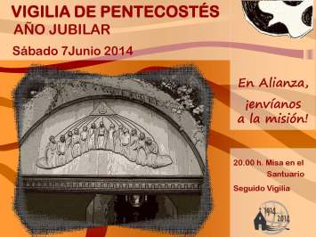 Cartel Vigilia Pentecostés 2014