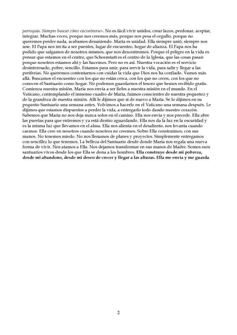 Motivación pastoral noviembre 2014 P Carlos Padilla. En tu corazón, Padre, una red de santuarios vivos. Schoenstatt- Roma_Página_2