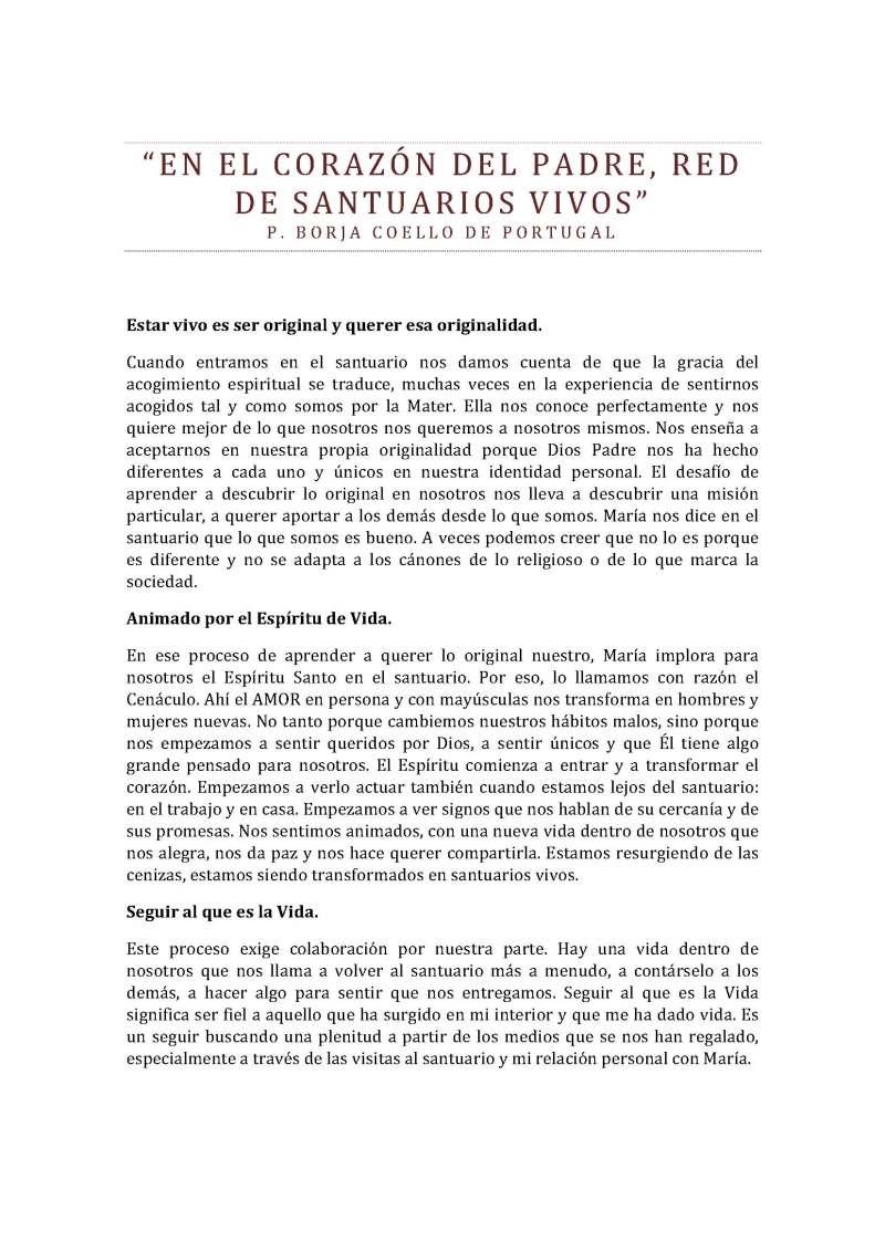 En el corazón del Padre red de santuarios vivos Motivación P. Borja Coello de Portugal junio 2015_Página_1