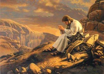jesus-orando-en-el-desierto